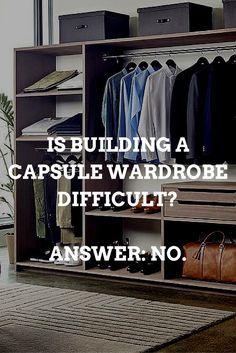 capsule wardrobe guide for men.. #mens #fashion #style