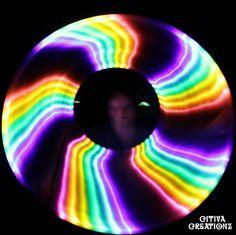 Rainbow Melt LED Hula Hoop from citivacreationz.com