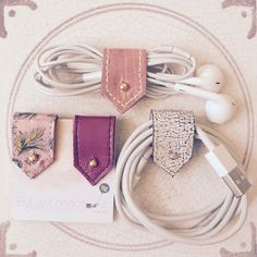 Pretty in pink... Pink leather cable tidies back in stock. Leathers are all limited editions, so combo sets do change, message me if there's a particular combo set of colors you would like