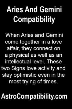 When Aries and Gemini come together.... | AstroCompatibility.com