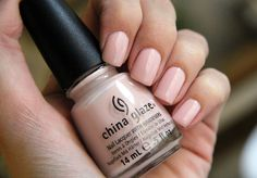 china glaze hopeful #nude #chinaglaze #nailpolish