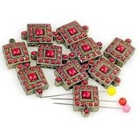 10 enamal drip 3 holes slider beads 11190