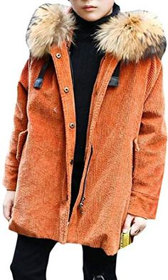 XXBlosom Men Puffer Thicken Cotton Padded Wool Lined Hooded Parkas Jacket