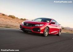 Cool Honda 2017 - Honda Civic Si Coupe 2017 poster, #poster, #mousepad, #tshirt, #printcarposter...  Honda posters Check more at http://carsboard.pro/2017/2017/07/08/honda-2017-honda-civic-si-coupe-2017-poster-poster-mousepad-tshirt-printcarposter-honda-posters-8/