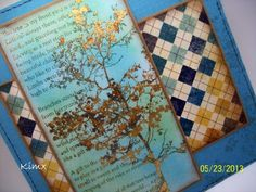 Kim x: Glorious Gold Leaf Tree Poem, Crafts To Do, Word Art, Gold Leaf, I Card, Birthday Cards, Poems, Colours, Card Ideas