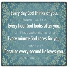 every day/hour/minute/second #faith