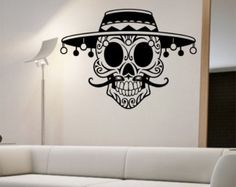 Day of the dead girl Vinyl Wall Decal Sticker by StateOfTheWall