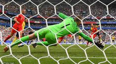 Moments after Alli's goal, Jordan Pickford pulled off a superb save to deny Sweden hitting back with a rapid response Gareth Southgate, England Football, Semi Final, Goalkeeper, Football Team, World Cup, Lions, Finals, Sweden