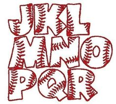 Cute Idea for Scrapbooking Letters for a baseball page