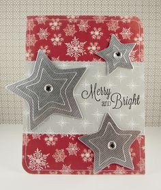 "I created this for the Paper Crafts Connection WCMD 2011 Winners Blog Hop! I used ""Whimsy Star dies"" from YNS and paper from ""Very Merry Christmas"" by Echo Park."