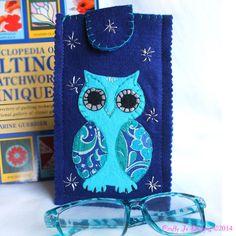 Felt Owl Glasses Case  Decorative Owls by CraftyJoDesigns on Etsy