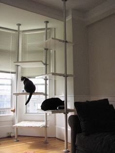 cat tree ikea hack from Stolmen closet pieces