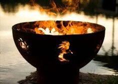 Fire Pit Art Kokopelli Wood Burning Fire Pit - KO