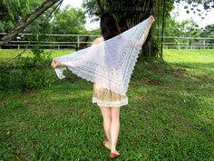 My heaven shawl by Patusha. Pretty, light, summery.  The pattern is free on Ravelry.
