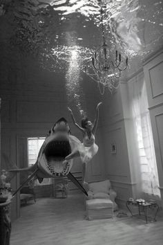 omg can you imagine the fear of just being swallowed up by a shark. #Digital Art