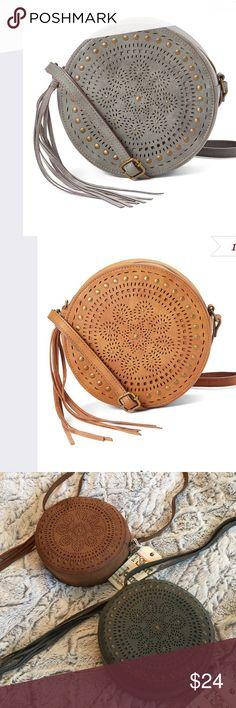 Circle Crossbody Cute laser cut crossbody Bag. Animal friendly vegan leather ❤️ T-shirt and Jeans Bags Crossbody Bags
