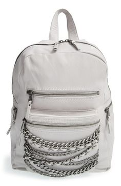 Ash 'Small Domino' Chain Leather Backpack available at #Nordstrom