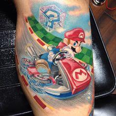 Super Mario Tattoo, Mario Cart Tattoo, Nintendo Tattoo