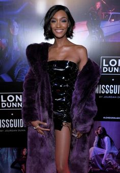Jourdan Dunn, Strapless Dress Formal, Formal Dresses, Pantone Color, Ultra Violet, Fur Coat, Purple, Jackets, Passion
