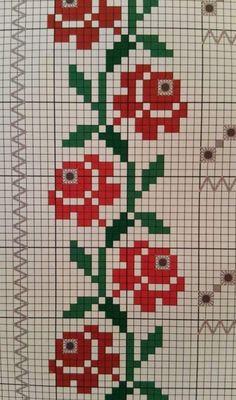 101 ÇEŞİT GÜL ŞABLONU (1) - GELİN İŞLERİ Cross Stitch Bookmarks, Simple Cross Stitch, Cross Stitch Borders, Cross Stitch Rose, Cross Stitch Flowers, Cross Stitch Designs, Cross Stitching, Cross Stitch Embroidery, Embroidery Patterns