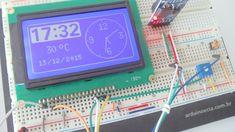 Relógio com display LCD 128x64 e RTC DS3231