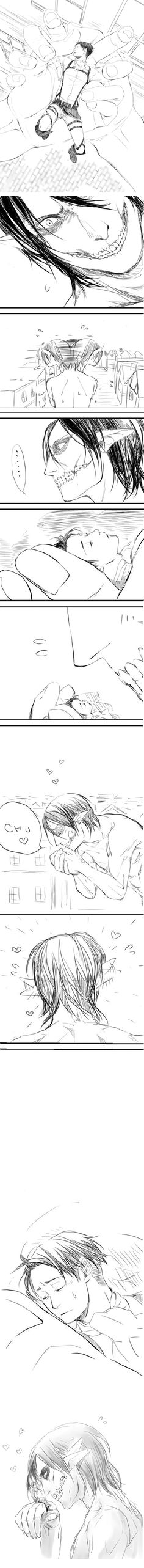 Aww <3 Eren and Levi
