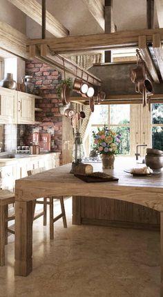 Rustic Kitchen Design #rustic #home #decor