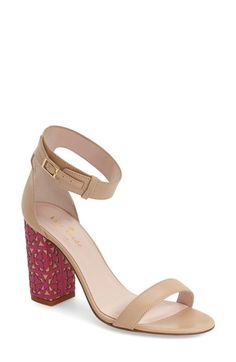 kate spade new york 'idelle' ankle strap block heel sandal (Women) available at #Nordstrom