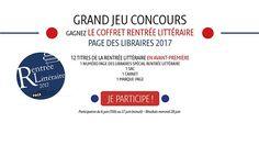 Grand Jeu Concours Rentrée Littéraire - Page des Libraires