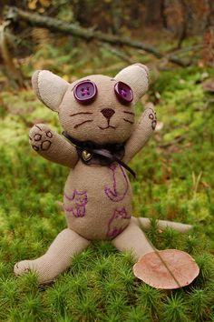 035 | Forest #cat #plush #toy #handmade