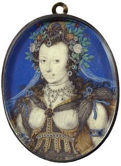 Isaac Oliver, Portrait of a lady, dressed as Flora for a masque, English, early 17th c.