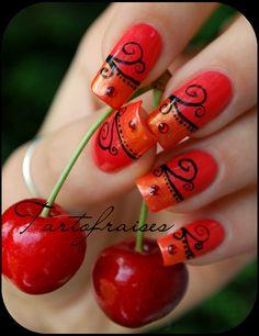 salsa nails by ~Tartofraises on deviantART
