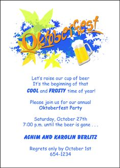 43 best oktoberfest invitations images on pinterest oktoberfest most unique oktoberfest invitation cards for your octoberfest party all cards cents for limited time stopboris Gallery