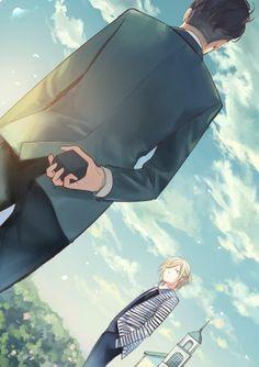 Otabek Altin x Yuri Plisetsky. Yuri on Ice. Yuri Plisetsky, Me Anime, Fanarts Anime, Anime Kawaii, Anime Stuff, Wattpad, Canon Anime, Yurio And Otabek, Shonen Ai