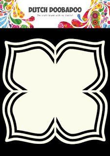 Art Flower with 4 Petals Scrapbook Frames, Scrapbook Templates, Wooden Crafts, Paper Crafts, Card Making Templates, Shape Art, 3d Cards, Digital Stamps, Creative Cards