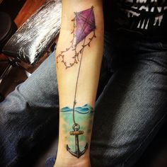 We understand the importance of kites and anchors, kite tattoo, anchor tattoo, kite and anchor tattoo