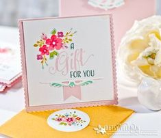 A Gift For You Mini Card by Betsy Veldman for Papertrey Ink (April 2016)