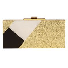 Boxed clutches for holiday occasions: Halston Heritage #InStyle
