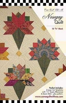 Nosegay Quilt Block Template Set by Pat Yamin of Come Quilt With Me