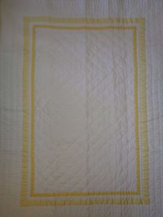 Pillowcases and Shams 124327: New Pottery Barn Harper Pale Yellow Nursery Crib Quilt -> BUY IT NOW ONLY: $109.95 on eBay!