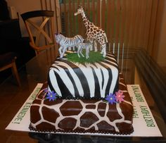 Zebra/Giraffe cake