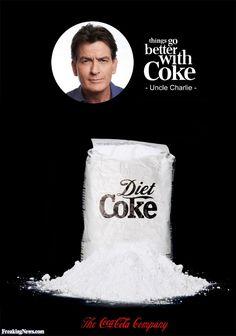 Funny Charlie Sheen Coke Ad
