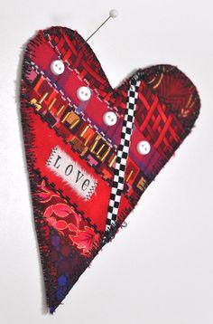 valentine heart art card