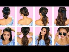 ★TOP 5 LAZY EVERYDAY HAIRSTYLES with PUFF QUICK & EASY BRAIDS & UPDO for Long Medium HAIR - YouTube