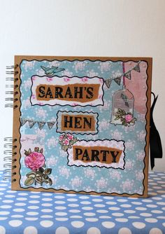 Scrapbook Hen Party Book Personalised Scrapbook by PTFP on Etsy