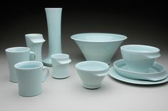 Munemitsu Taguchi's serving set. Taguchi gave us a tour of his studio located in Philadelphia, Pennsylvania, in the May 2011 issue of Ceramics Monthly.  http://ceramicartsdaily.org/ceramics-monthly/cm-back-issues/ceramics-monthly-May-2011/