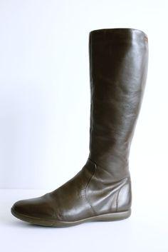 CAMPER SPIRAL DESIGNER BROWN LEATHER KNEE HIGH FLAT BOOTS SIZE 5 (38) Flat Boots, Ebay Clothing, Spiral, Riding Boots, Camper, Brown Leather, Flats, Shoes, Design