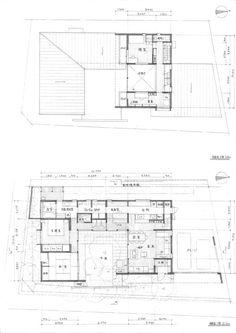 内庭・外庭の家|横内敏人建築設計事務所 Japan Architecture, Floor Plan Layout, Osaka, My Dream Home, House Plans, Floor Plans, Exterior, House Design, How To Plan