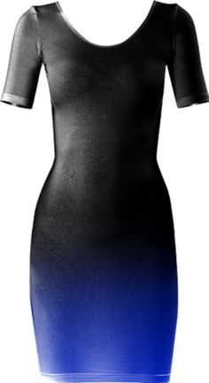 Fade To Blue (Dark) Short Sleeved Bodycon Dress - Available Here: http://printallover.me/products/0000000p-fade-to-blue-dark-1