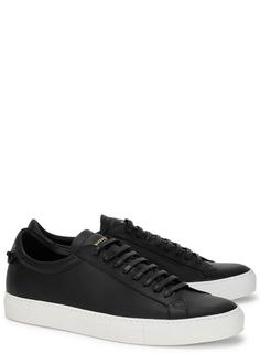 3786c67d776 Black leather trainers - Men Black Trainers Outfit